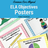 2nd Grade Common Core Standards Posters: ELA Standards in Chevron