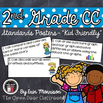 2nd Grade Common Core Standards Posters-