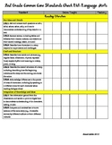 2nd Grade Common Core Standards (w/ CA additions) Checklist: Language Arts