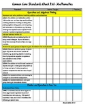2nd Grade Common Core Standards (w/ CA additions) Checklist: Math