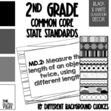 2nd Grade Common Core State Standards (CCSS) Display Black