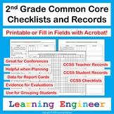 2nd Grade Checklists: Common Core