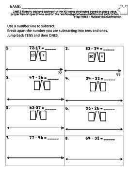 2nd Grade Common Core Subtraction Unit NBT.5