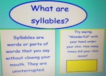 2nd Grade Common Core Syllable Intro to Decode Long Vowels SMARTBoard