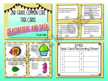 2nd Grade Common Core Task Cards - ALL STANDARDS BUNDLE