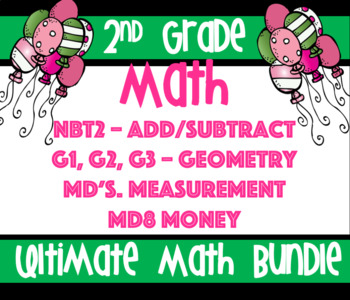 2nd Grade Common Core Ultimate Math Bundle: