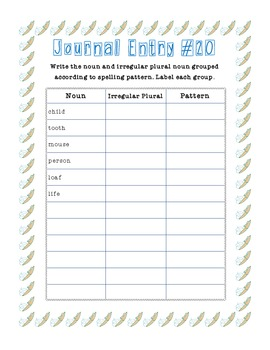 2nd Grade Common Core Unit 3 Journal Tasks
