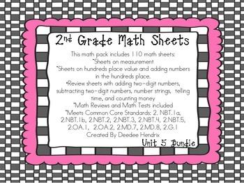 Second Grade Common Core Unit 5 Bundle