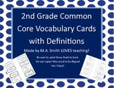 2nd Grade Common Core Vocabulary Words with Definitions