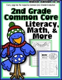 2nd Grade Common Core: Winter Themed Math & ELA Pack 100% Aligned