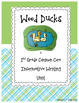 2nd Grade Common Core Wood Duck Research Project