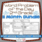 Word Problems 2nd Grade Bundle, Spiral Review, Distance Learning