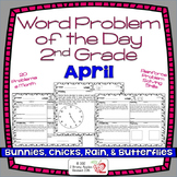 Word Problems 2nd Grade, April