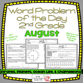 Word Problems 2nd Grade, August