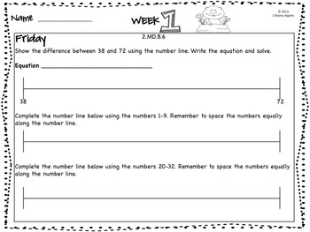 Word Problems 2nd Grade, February