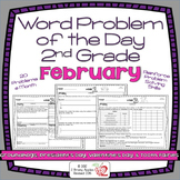 Word Problems 2nd Grade, February, Spiral Review, Distance