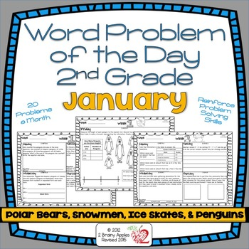 Word Problems 2nd Grade January By Heather Leblanc