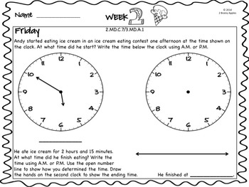 Word Problems 2nd Grade, June