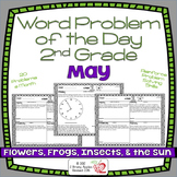Word Problems 2nd Grade, May, Spiral Review, Distance Learning