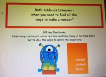 2nd Grade Common Core Word Problems 2.OA.1 with Monster Math PowerPoint