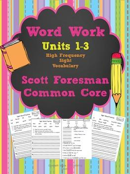 2nd Grade Common Core Word Work: Scott Foresman 2013