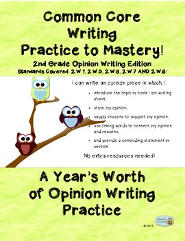 2nd Grade Common Core Writing Bundle: Opinion, Informative and Narrative Writing