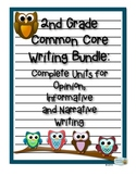 2nd Grade Common Core Writing Bundle: Opinion, Informative