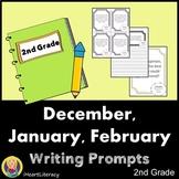 Writing Prompts 2nd Grade Common Core Bundle December, Jan
