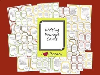 Writing Prompts 2nd Grade Common Core Bundle - September, October, & November