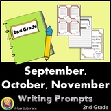 Writing Prompts 2nd Grade Common Core Bundle September, Oc