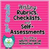 2nd Grade Common Core Writing Rubrics & Checklists for the