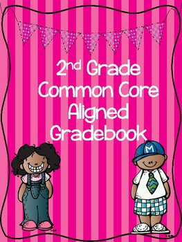 2nd Grade Common Core aligned editable grade book