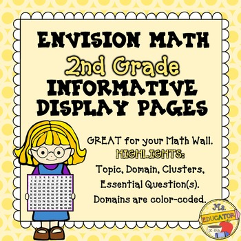 EnVision Math Common Core - 2nd Grade Informative Display Pages