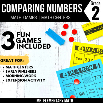 2nd Grade Comparing Numbers Games and Centers