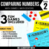 2nd Grade Comparing Numbers Games and Centers | 3 Digit Numbers