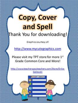 2nd Grade  - Copy, Cover and Spell JUMBO PACK