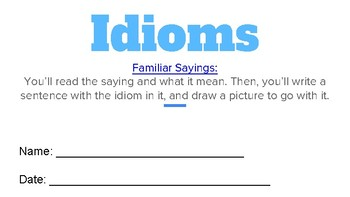 2nd Grade Core Knowledge Idioms