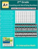 2nd Grade Counting & Identifying Numbers Lessons, Worksheets, Solution Manuals