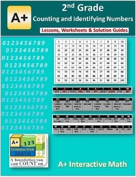 2nd Grade Counting & Identifying Numbers Lessons, Workshee