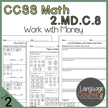 2nd Grade, Counting Money and Word Problems- No Prep ...
