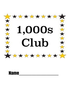 2nd Grade Counting: Thousands Club and Count By Club