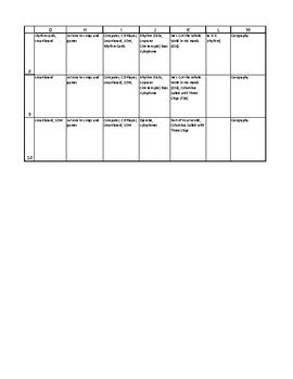 2nd Grade  Curriculum/Sequence Map for General Music