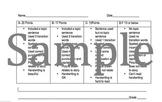 2nd Grade Customizable Writing Rubric