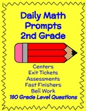 2nd Grade DAILY Math Prompts- 180 Days worth of questions!