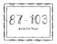 2nd Grade DIBELS EOY DORF (Oral Reading Fluency) Growth Clip Chart