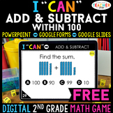 2nd Grade DIGITAL I CAN Math Game | Add & Subtract within