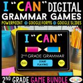 """2nd Grade DIGITAL """"I Can"""" Grammar Games   Google Classroom"""