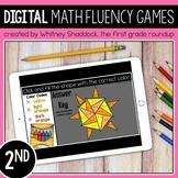 2nd Grade DIGITAL Math Fluency Centers