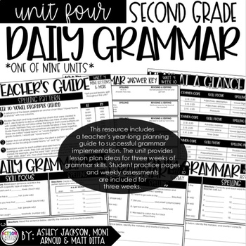 2nd Grade Daily Grammar Unit 4