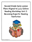2nd Grade Daily Lesson Plans Aligned to Lucy Calkins Readi